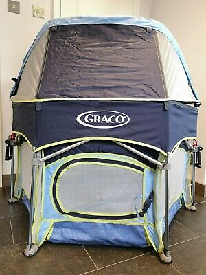Graco Hexagon Pack N Play Baby Toddler Playpen Travel Cot Sunshade *** Excellent