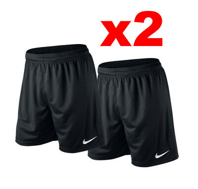 NEW NIKE Park II Boys Kids Soccer Football Shorts Y XS S M Black Gym Training