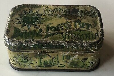 Extremely Rare E.W Saywell Long Cut Tobacco Cigarette Tin Era 1879