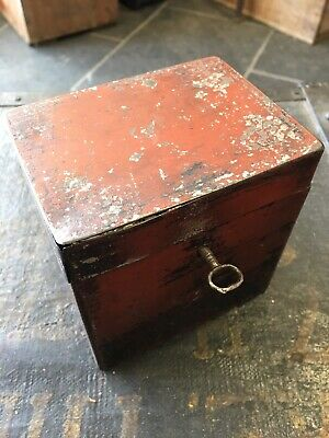Antique  Travelling Campaign Tea Caddy