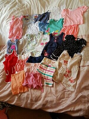 Large Bundle Of Summer Girls Clothes. Age 6-9 Months