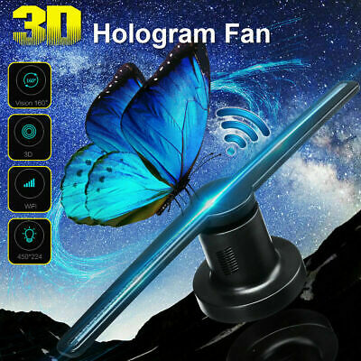 Adavertising LED 3D WiFi Fan Lamp Hologram Player Display Holographic Projector