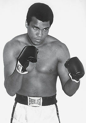 Muhammad Ali Boxing Poster Art Print Black & White Card or Canvas