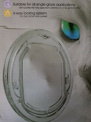 Pet-Corp  Single Glazed Cat Flap  Bankrupt Stock Fixings Are Missing