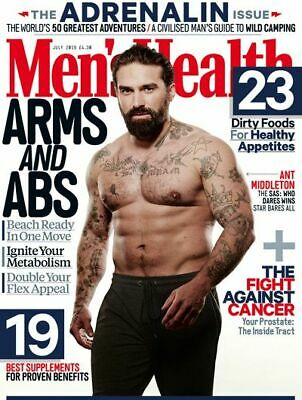 Men's Health Magazine -  July 2019 Issue - Ant Middleton - BRAND NEW - A4 Size
