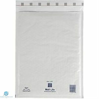 25 K7 K/7  White 350 x 470 mm Padded Bubble Wrap Mail Lite Postal Bag Envelope