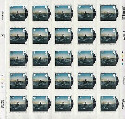 GB Stamps 2016 'Pink Floyd - The Endless River' complete sheet - U/M