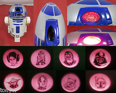 STAR WARS R2D2 Droid Images Projector McDonald's Promotional Toy Figure No.2 VG