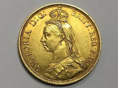 Great Britain Q.v.  Gold Double Sovereign  2 Pound Coin 1887