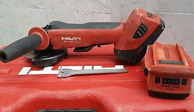 Hilti AG 125-A22 22v Angel grinder +2×5.2ah battery.