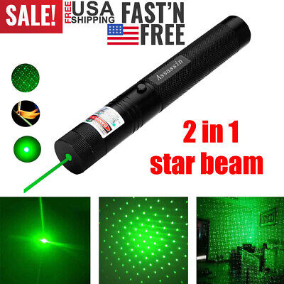 Portable Green Laser Pointer Pen Star Visible Beam Handheld Rechargeable Lazer