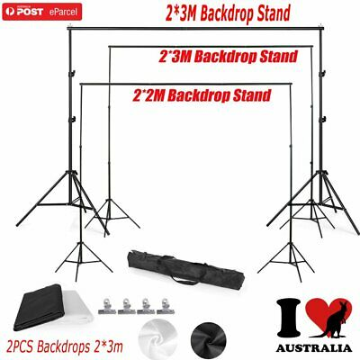 Portable Photography Black White Screen Backdrops&Background Support Stand FH