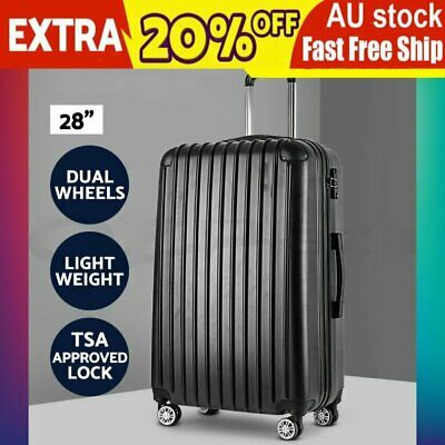 "AU 28"" Luggage Sets Suitcase Trolley TSA Travel Hard Case Lightweight FH"