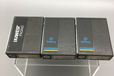 Lot of 3 Vintage MOTOROLA METRX Tone/Voice Pager VHF A03BHC1668A 152.840MHz*E32*