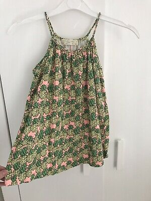 H And M Girls Green Pineapple Summer Dress 4 5 Years