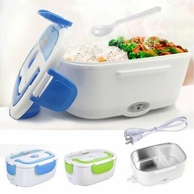 Portable Electric Heating Lunch Box Bento Heater Stainless Steel Food Container