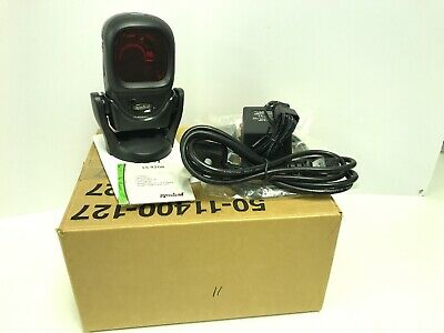 Symbol / Motorola LS9208-SR10007NSWW Serial Barcode Scanner + Cable + Stand