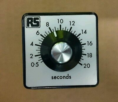 Time Delay Relay 8-Pin 0.5 - 20 secs DPDT 110v ac plug in Octo Base Timer