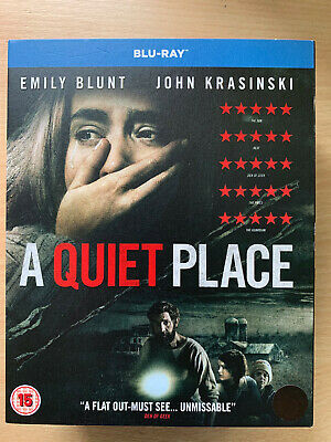 A Quiet Place Blu-ray 2018 Sci-Fi Horror Film w/ Emily Blunt with Slipcover
