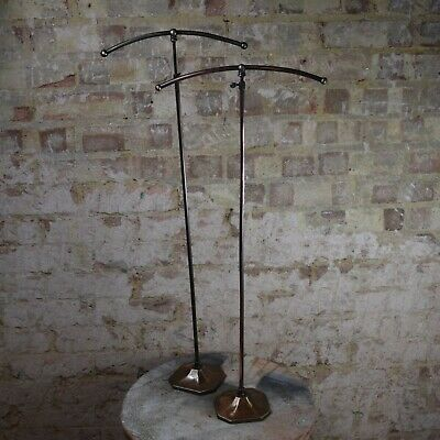 Antique Pair Griffiths London Shop Display Stands Haberdashery Fittings Copper