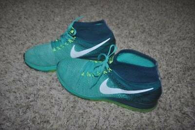 Mens Nike Zoom All Out Flyknit Jade Gren White Volt Running Athletic Shoes-sz 11