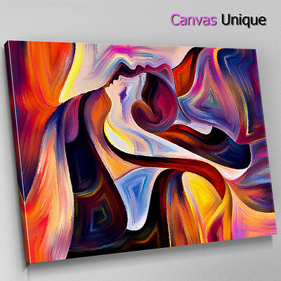 Ab1277 Red Woman Body Painting Abstract Canvas Wall Art Framed Picture Print 9 99 Picclick Uk