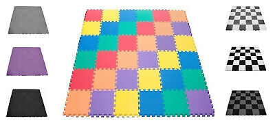 20Pcs Interlocking Eva Foam Mat Soft Floor Tiles Play Kids Baby Mats Gym 30X30cm
