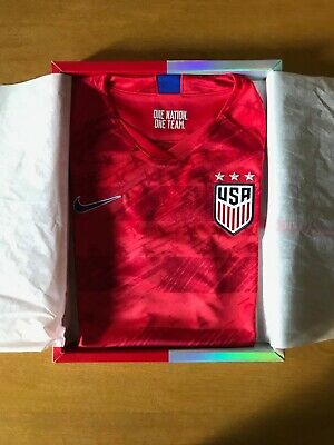 5970ea821 NEW 2019 US Womens NIKE RED AWAY SOCCER JERSEY small - BOXED AJ4397-688
