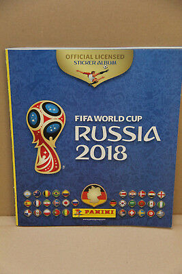 1 Panini Sammelalbum Fifa World Cup WM 2018 Russia Neu Album + 6 Sticker