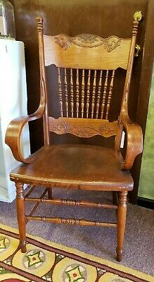 Antique Solid Oak Wood Arm Chair 20 available