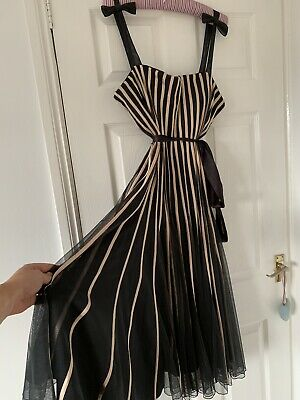 Jacques Vert Black Stripe Dress Size 20