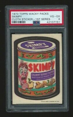 1973 Topps Wacky Packages Cloth Sticker Skimpy PSA 4