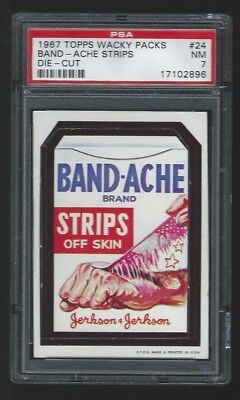 1967 Topps Wacky Packages #24 Band-Ache PSA 7