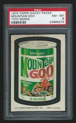 1974 Topps Wacky Packages Mountain Goo PSA 8 10th Series