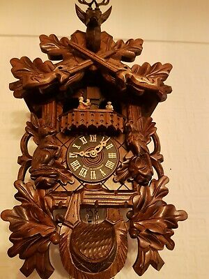 STUNNING  BLACK FOREST  MUSICAL CUCKOO  CLOCK -switch off / Servised/VERY Clean