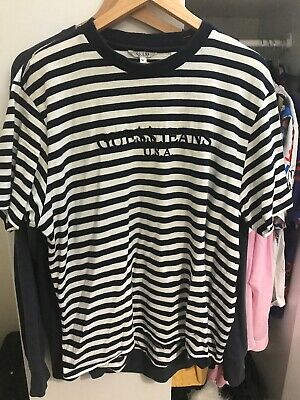 d8f1eeb494dd GUESS X ASAP Rocky Blue Orange Striped Logo Medium T-Shirt M GUE$$ A ...