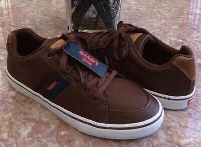 d522a681 New Levis Comfort Men's Turner Nappa Brown Leather Sneakers Size 12  #51821809B