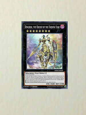 1x Proxy Fake Yu-gi-oh Dingirsu, the Orcust of the Evening Star Premium Paper