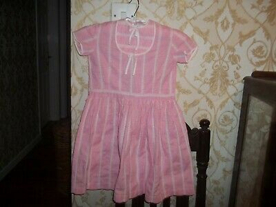 VINTAGE Pink & White 1960's French Child's  DRESS - Age 5-6