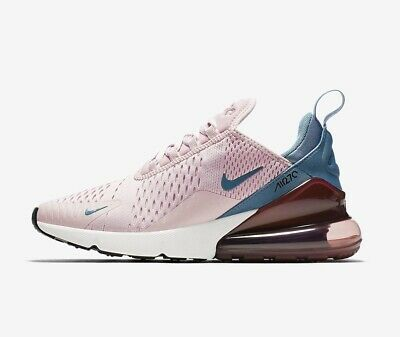 hot sale online 17524 ed781 Nike Womens AIR MAX 270 Particle Rose / Celestial Teal Trainers - uk 9 - eu