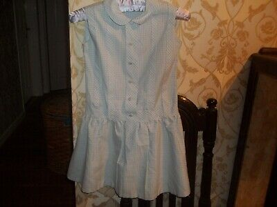 VINTAGE Blue & White 1960's French Child's  DRESS - Age 5-6