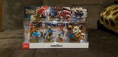 Amiibo The Legend of Zelda: Breath of the Wild Four Champions Pack- New & Sealed