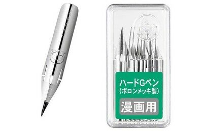 Delivered from UK! Zebra Comic G Model Chrome Pen Nib Pack of 10 PG-6C-C-K