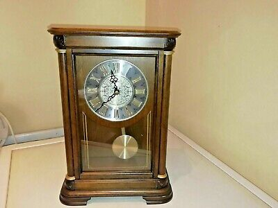 Seiko Reproduction Westminster /  Whittingham Chiming Mantle Clock With Pendulum