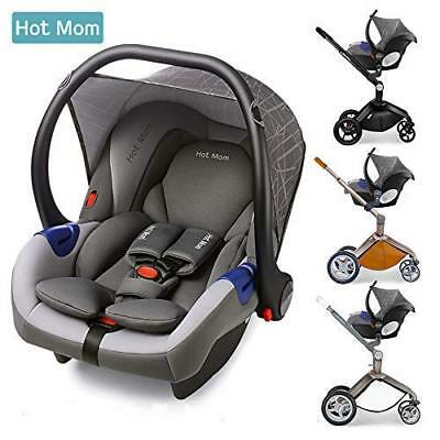 Car Seat FOR Hot Mom Pushchair 3 in 1 Travel System Stroller Pram Grey Group 0+