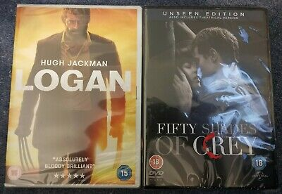 Logan - DVD, 2017 and Fifty Shades Of Grey (Unseen Edition) - DVD, 2015