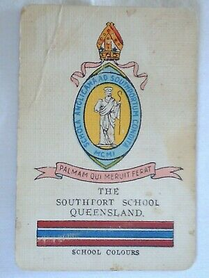 Vintage World Renowned Card School Crests The Southport School Qld.