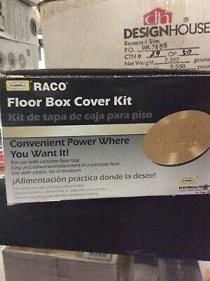 Hubbell-Raco RAC5500KIT Floor Box Kit with Duplex Device Cover, Gasket, Flange..