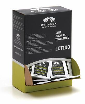 Pyramex Lens Cleaning Towellettes Dispenser, 100 Per Box, LCT100