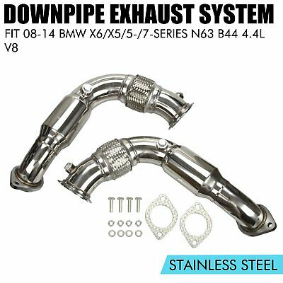 STAINLESS TURBO EXHAUST Flex Down Pipe For 08-14 X6/X5/5-/7-Series